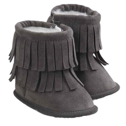 Infant Double Layer Tassel Soft Boots - Zacca store
