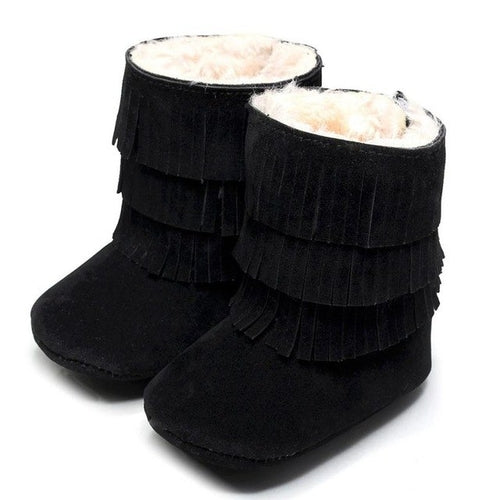 Infant Double Layer Tassel Winter Boots - Zacca store