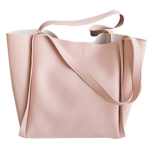 Soft PU Pastel Color Handbag - Zacca store
