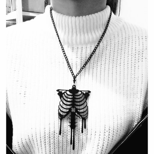 Skelton Black Necklace - Zacca store