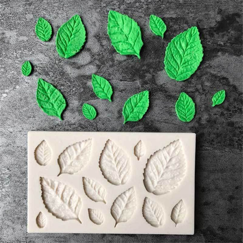 Leaves Shaped 3D Silicone Press Mold - Zacca store