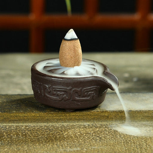 Mini Ceramic Censer Backflow Incense Cones Incense Stick Burner - Zacca store