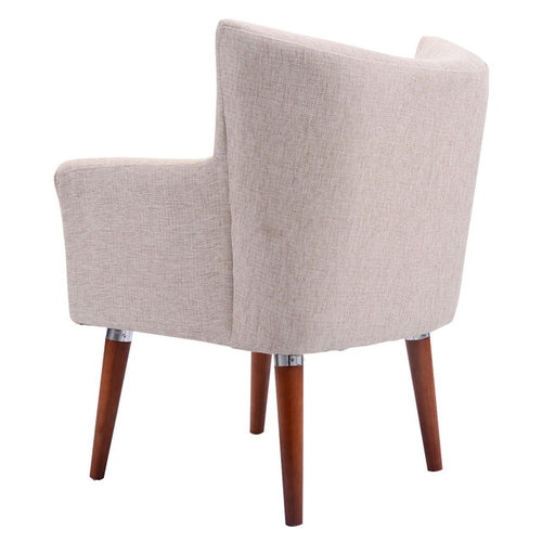 Beige Leisure Arm Chair Living Room Single - Zacca store