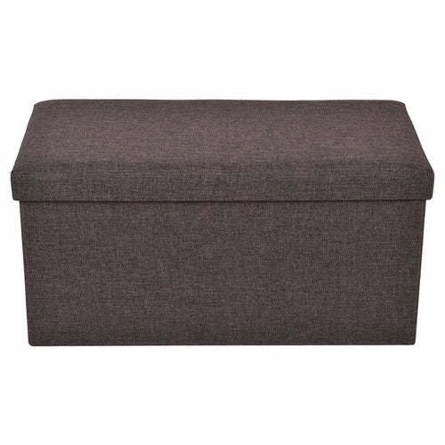 Folding Rect Ottoman Bench Storage Stool - Zacca store