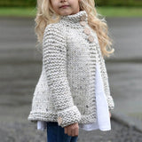 Button Knitted Sweater Cardigan For Girl - Zacca store