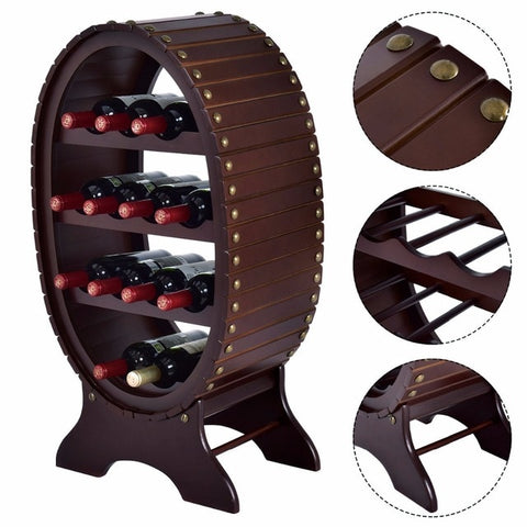 Vintage Style 4 Tier Wine Rack - Zacca store