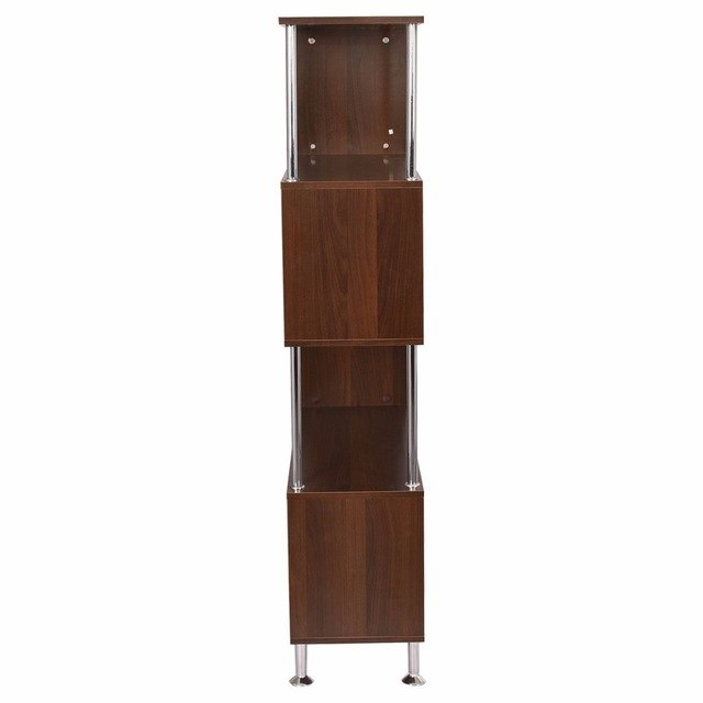 Modern Bookcase Wooden Bookshelf Storage Display Unit Furniture (4-Tier) - Zacca store