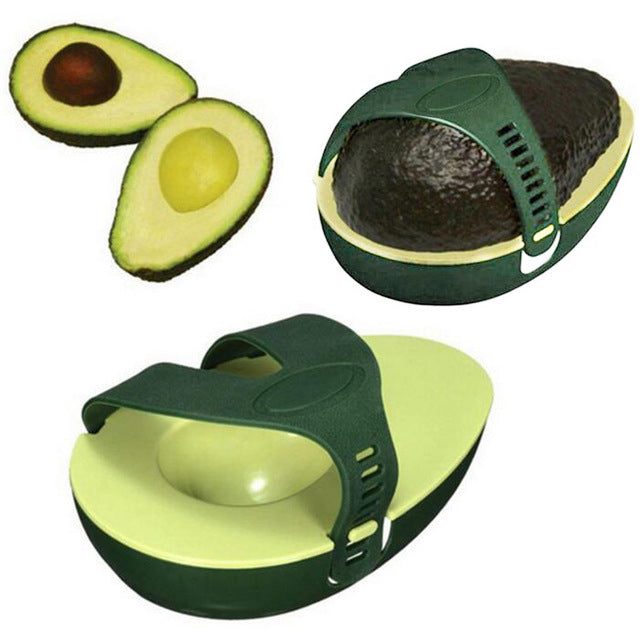 Green Avocado Stay Fresh Saver Leftover Half Food - Zacca store