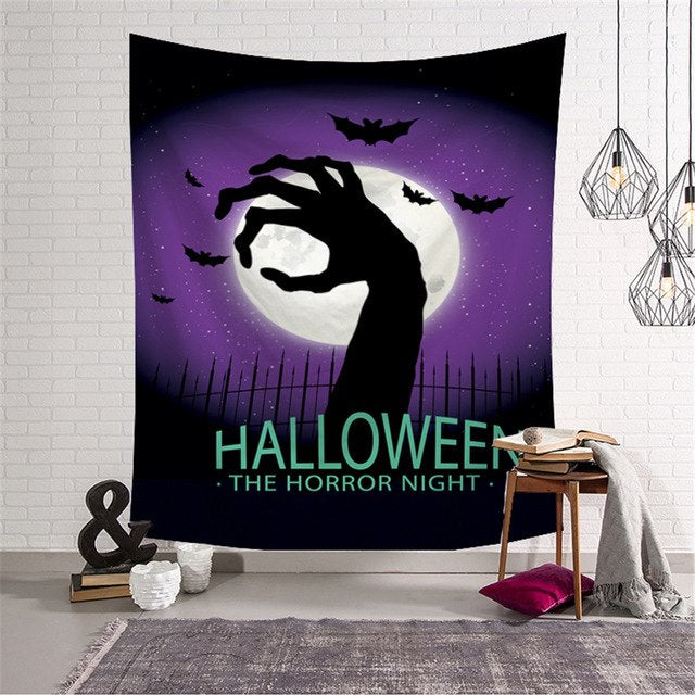 Halloween Tapestry Horror Bloody Ghost Print Wall - Zacca store