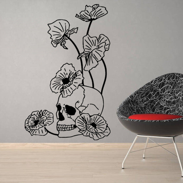 Skull Art Wall Stickers - Zacca store