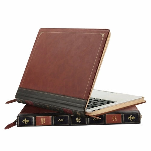 Macbook Air Cover Vintage Style Faux Leather - Zacca store