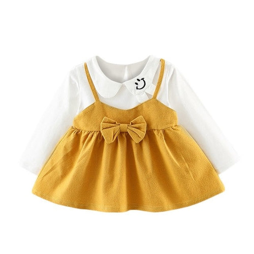 New Toddler Kids Baby Girls Long Sleeve Bowknot - Zacca store