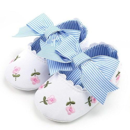 Floral Ribbon Baby Shoes - Zacca store