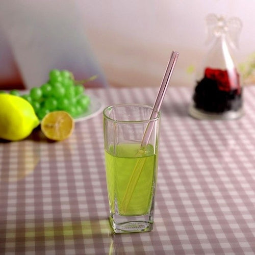 Reusable Glass Straws Smoothie Drinking Straws for - Zacca store