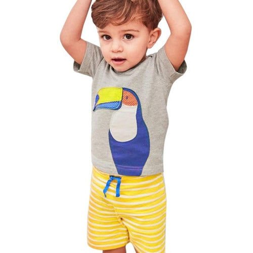 Parrot Tropical Boys Summer Clothing - Zacca store