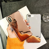 Hot Clear Soft Mirror iPhone Case - Zacca store