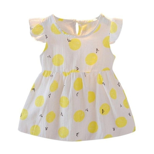 Sweet Baby Girl Dress Toddler Girls Fly Sleeve - Zacca store