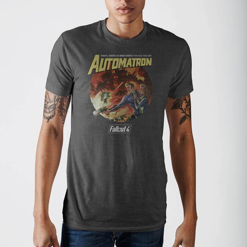 Fallout Automatron メンズT-シャツ Grey T-Shirt - Zacca store