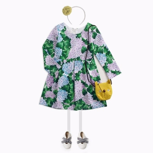 Hydrangea Kids Green Dress - Zacca store