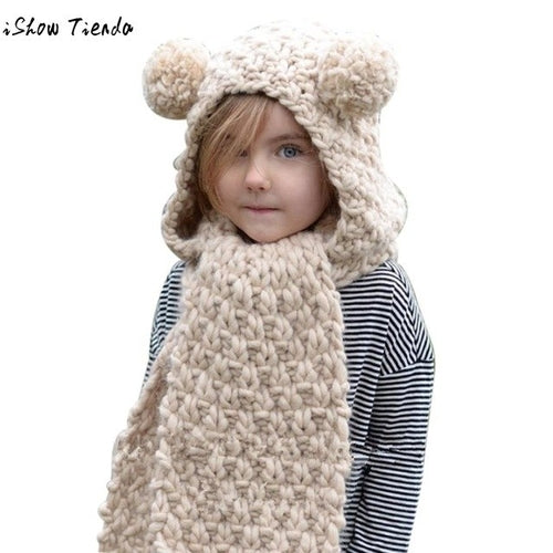 Winter Hats For Kids Princess Solid Winter Wool - Zacca store