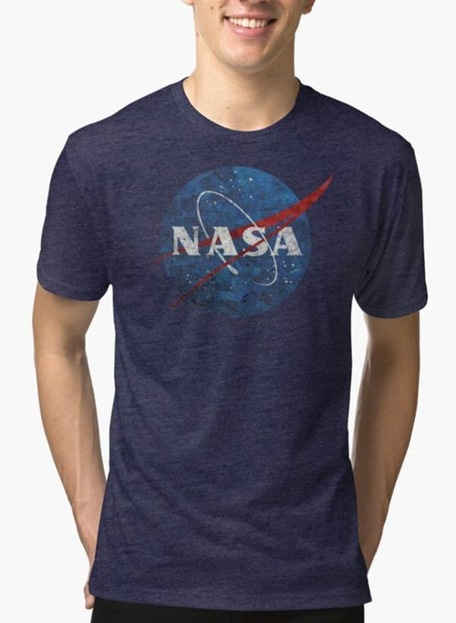 NASA Vintage Emblem Purple T-shirt - Zacca store