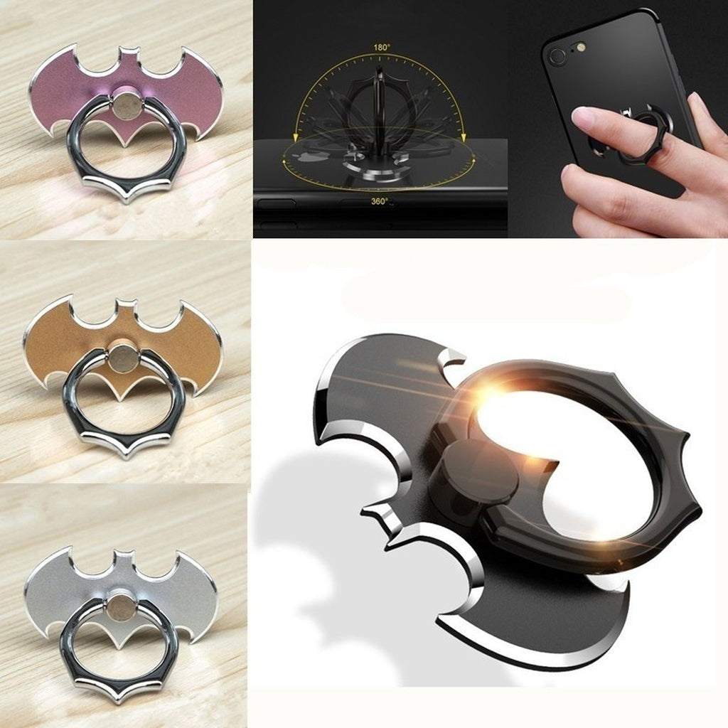 Universal 360° Alloy Bat Finger Ring Sticky Mount Stand Holder For Cell Phone - Zacca store