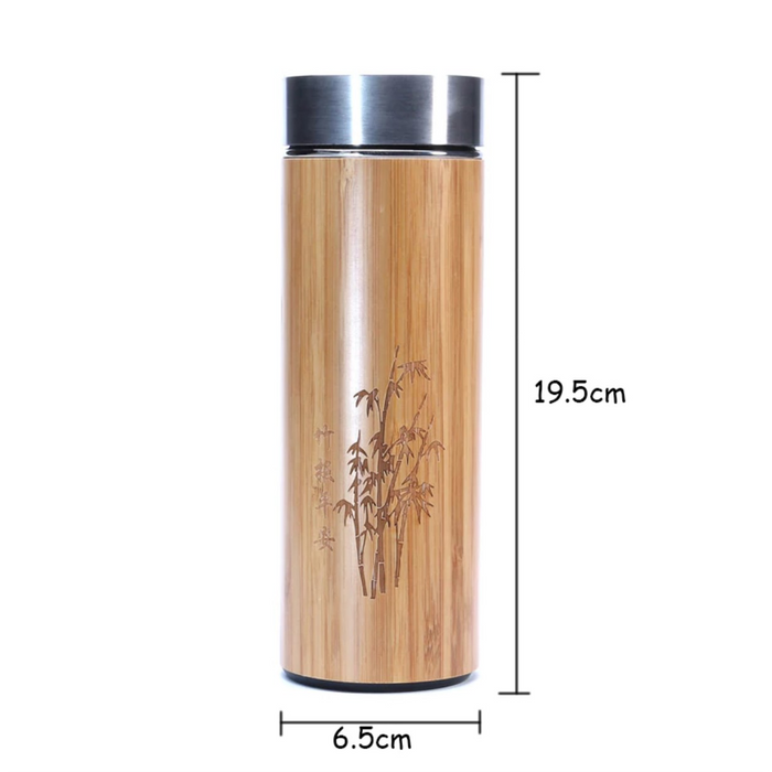 Bamboo Thermal Bottle for Tea/Coffee Outdoor - Zacca store