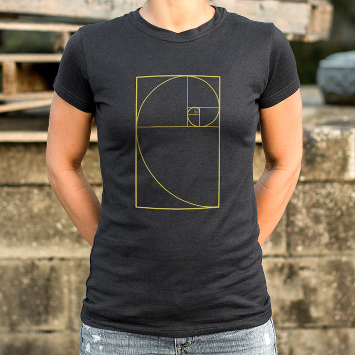 Golden Spiral Diagram T-Shirt (Ladies) - Zacca store