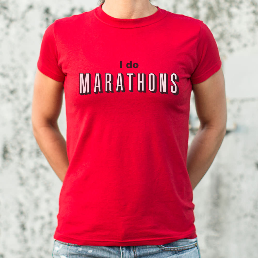 I Do Marathons T-Shirt (Ladies) - Zacca store