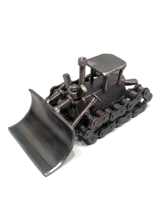 Scrap Metal Bulldozer Figurine, Steel Dozer, Nuts - Zacca store