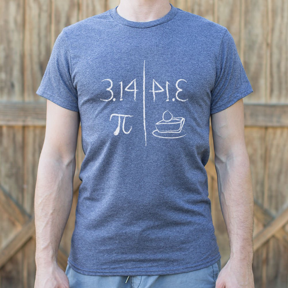 Pi Mirrors Pie T-Shirt (Mens) - Zacca store