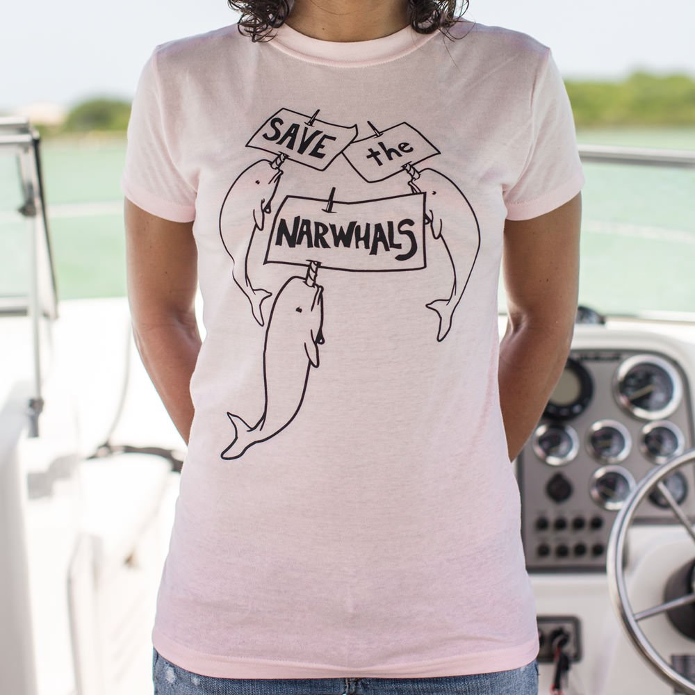 Save The Narwhals T-Shirt (Ladies) - Zacca store