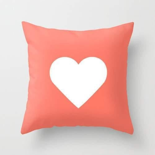 Peach Heart Pillow - Zacca store