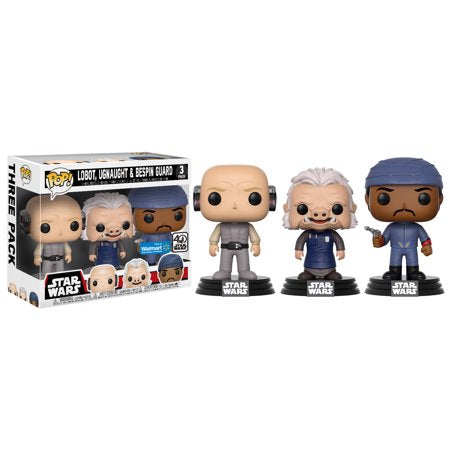 ウォルマート限定 スターウォーズ ファンコ POP! Star Wars - Cloud City 3 Pack, Lobot, Ugnaught, Bespin Guard - Walmart Exclusive