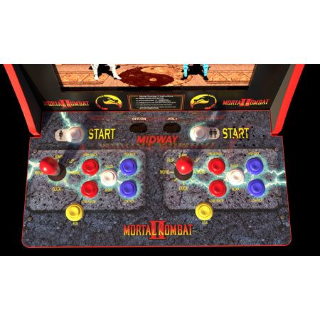 ウォルマート限定 モータルコンバット アーケードゲーム Mortal Kombat Arcade Machine, Arcade1UP, 4ft (Includes Mortal Kombat I,II, III) - Walmart Exclusive