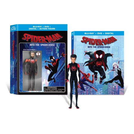 ウォルマート限定 スパイダーマン(フィギュア+映画)Spider-Man: Into the Spider-Verse (Walmart Exclusive) (Blu-Ray + DVD + Digital Copy + Action Figurine)