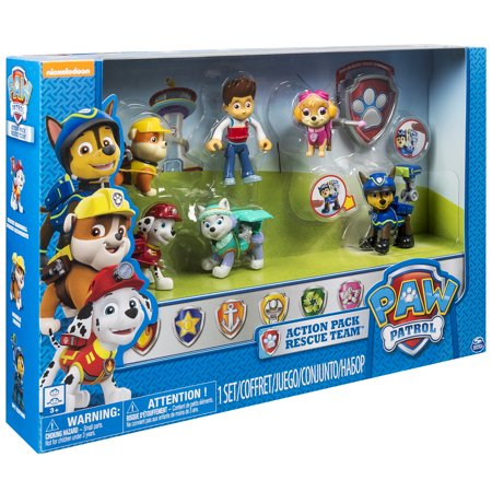 ウォルマート限定 パウパトロールPaw Patrol Action Pack Rescue Team, Walmart Exclusive