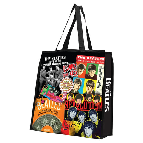 Album Collage Large Recycled Shopper Tote
