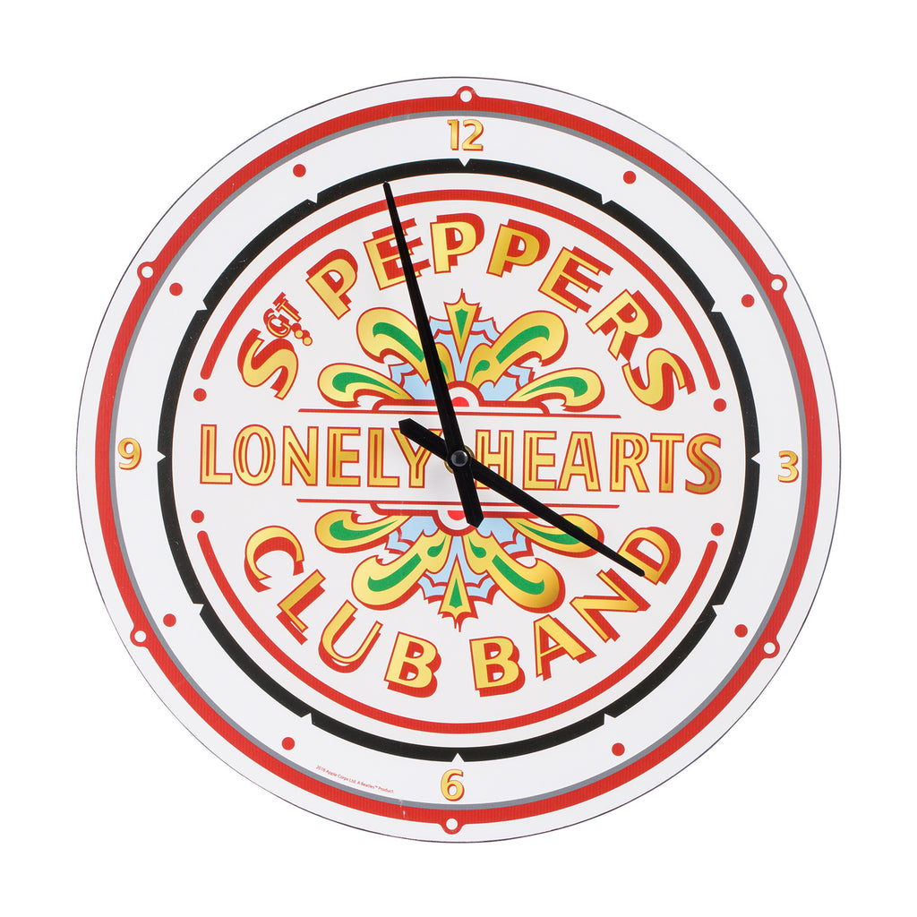 Sgt Pepper Collage Wood Wall Clock The Beatles