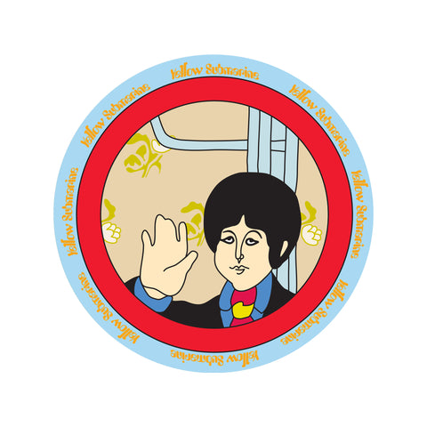 Yellow Submarine Ceramic Salad Plate Set