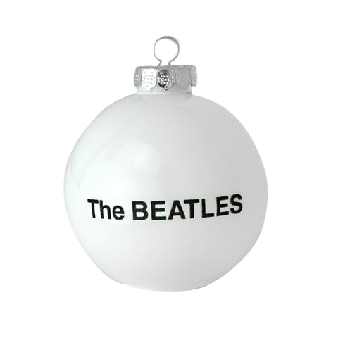 Beatles White Round Ornament