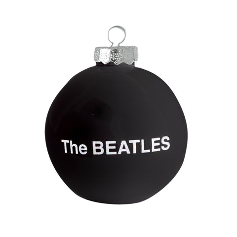 Beatles Black Round Ornament