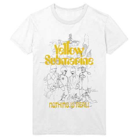 Yellow Submarine 50th Anniversary White Outline T-Shirt
