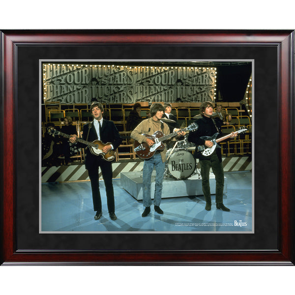 The Beatles 1965 On Stage Color Shot 8x10 Framed Photo