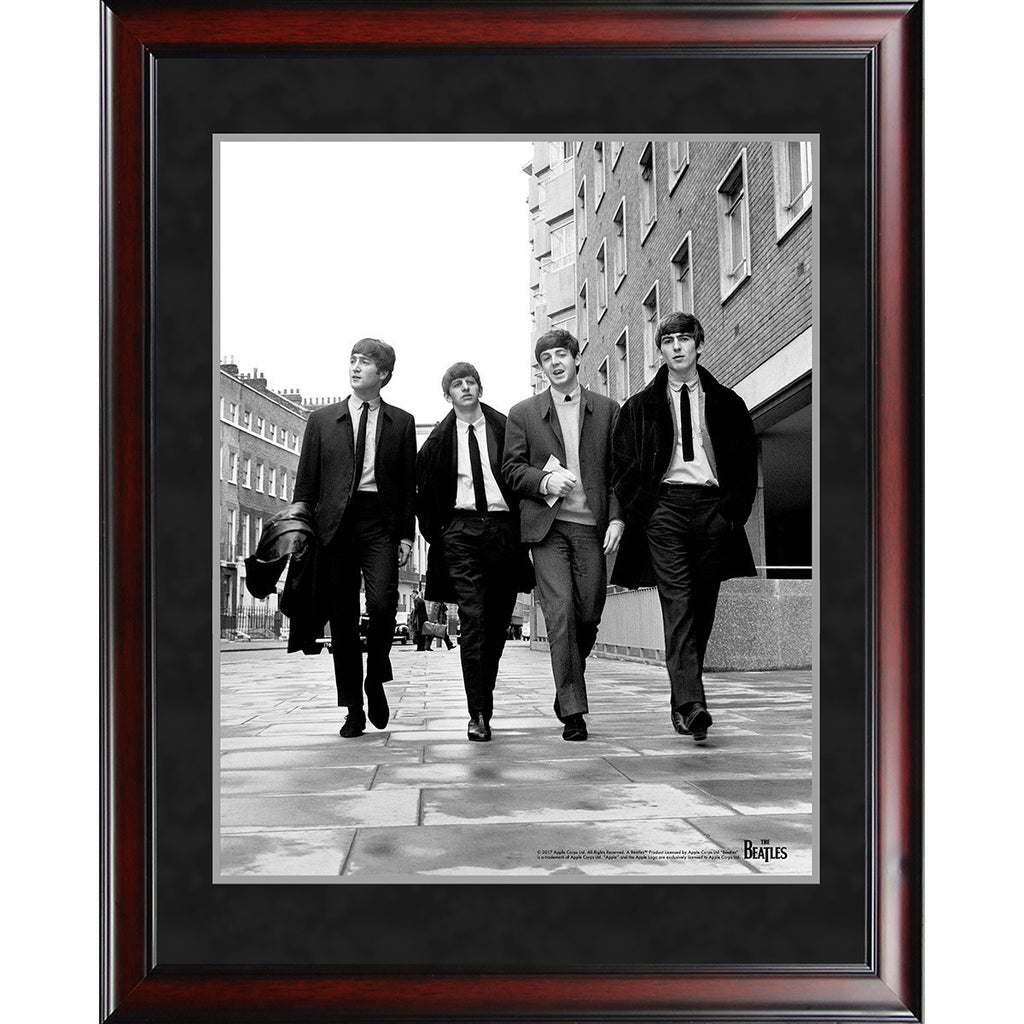 The Beatles \'1963 Black and White Walking\' 8x10 Framed Photo