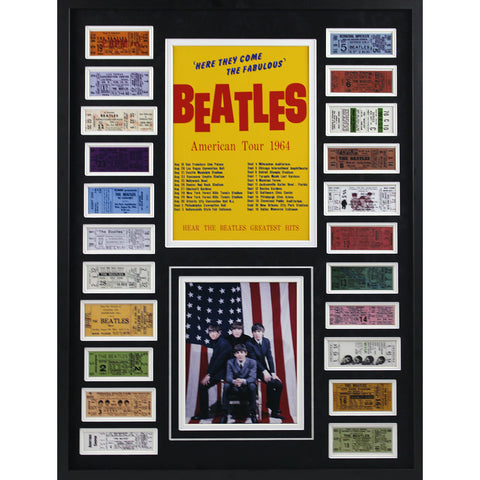 American Tour 1964 Framed Ticket Collage
