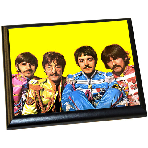 The Beatles 'Sgt. Pepper Lonely Hearts Costumes' 8x10 Plaque