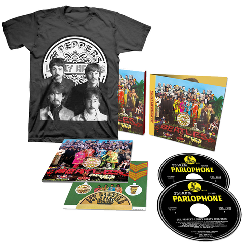 Sgt. Pepper's Lonely Hearts Club Band 2 Deluxe CD + T-Shirt Bundle