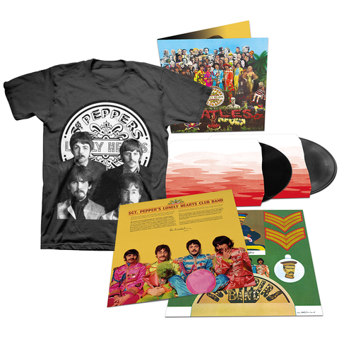 Sgt. Pepper's Lonely Hearts Club Band 2 Deluxe LP + T-Shirt Bundle