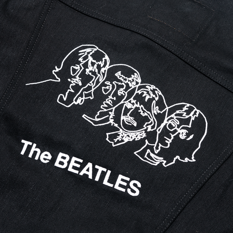 The Beatles (White Album) Black Levi's Denim Jacket
